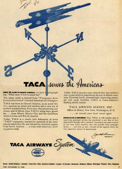 TACA Airways System – TACA serves the Americas (1946)