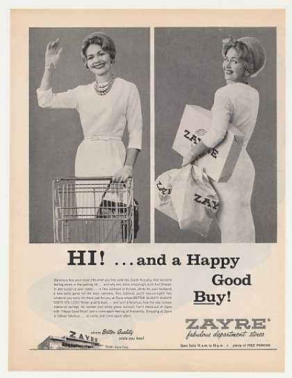 Zayre Dept Store Happy Good Buy Lady Shopper (1961)