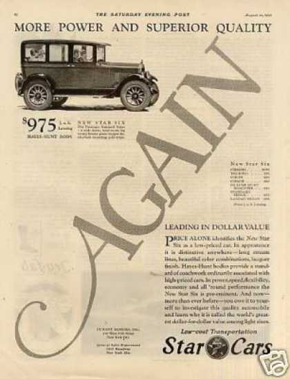 Star Cars Ad 2 Page (1926)