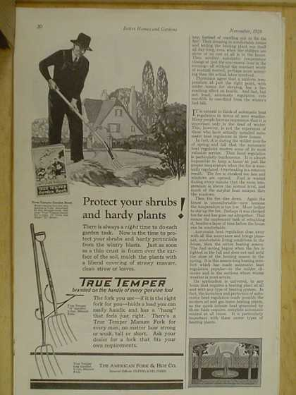 American Fork and Hoe Co. True Temper. Garden Forks (1926)