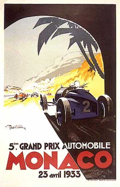 Monaco Grand Prix by Geo Ham (1933)