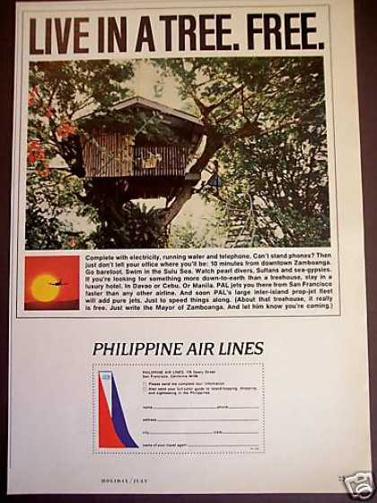 Treehouse Photo Philippine Airlines Pal (1965)