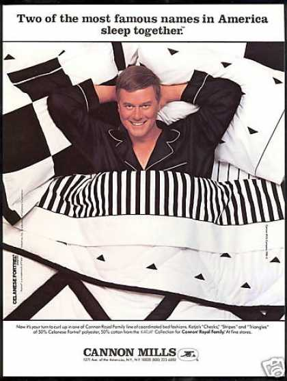 Larry Hagman Cannon Mills Bed Fashion Vintage (1984)