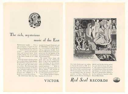 Victor Red Seal Records Scheherazade 2-Pg (1928)