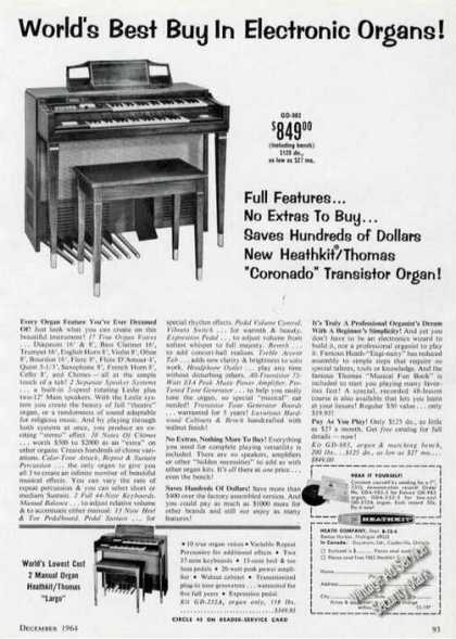 Heathkit/thomas Transistor Organ Photos (1964)
