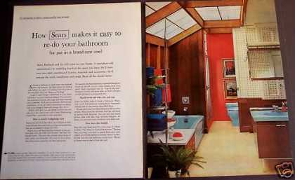 Sears, Roebuck Re-models Bathrooms 2-page Retro (1963)