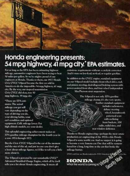Honda Civic Cvcc Engineering Theme Car (1977)