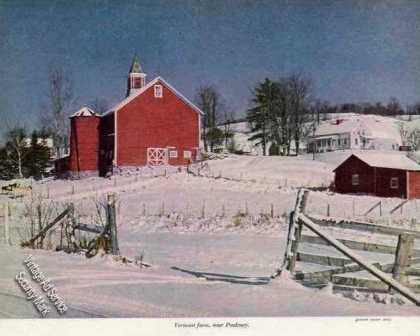 Vermont Farm Near Poultney Magazine Print (1948)