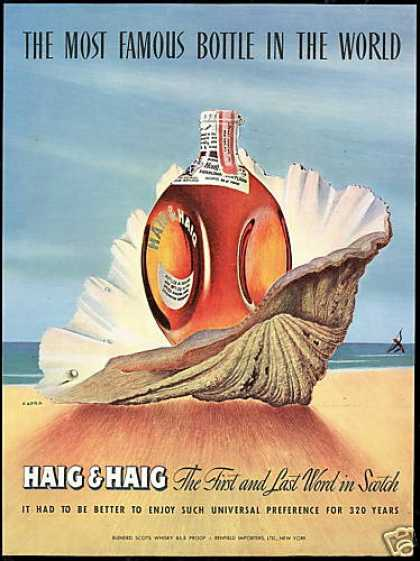 Sea Shell Kapra Art Haig & Haig Scotch (1947)