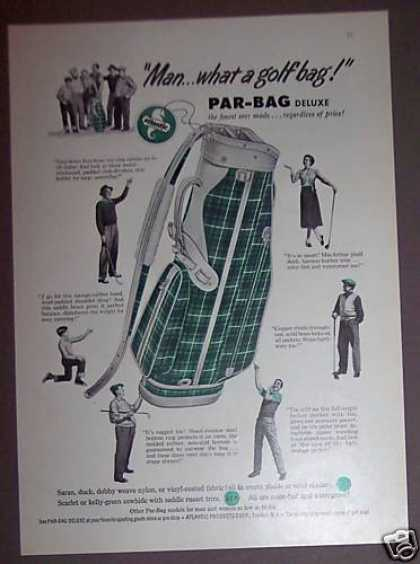 Atlantic Par-bag Green Plaid Retro Golf Bag (1953)