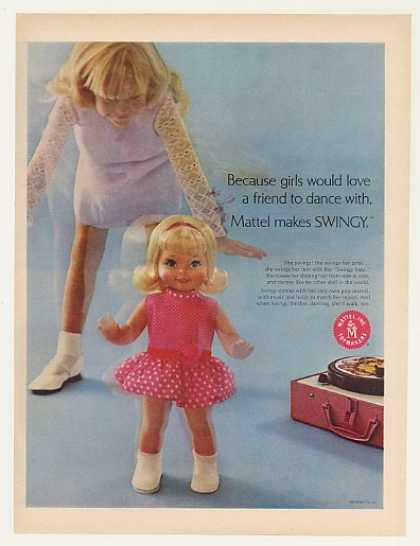 Mattel Swingy Dancing Doll (1969)