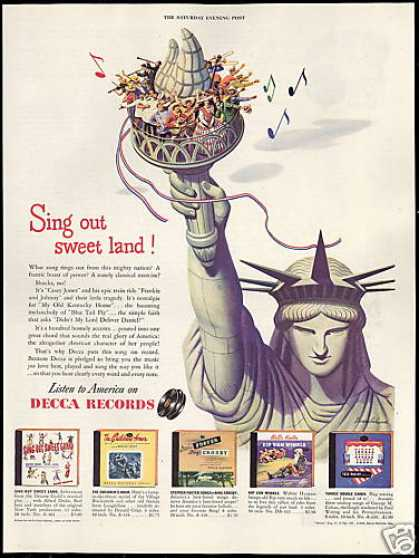 Statue of Liberty Decca Records Stevan Dohanos (1946)