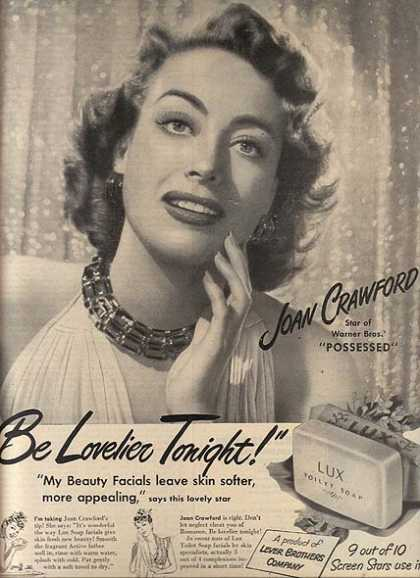Lux Toilet Soap – Joan Crawford (1947)