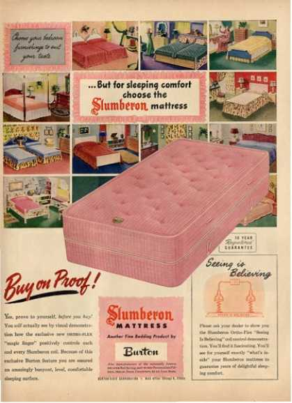 Slumberon Mattress Bed Burton T (1948)