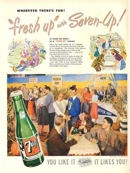 7up Seven Up Pigskin Football School Dance Hop (1948)