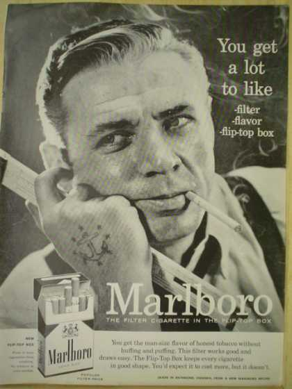 Marlboro Cigarettes You get a lot to like (1956)