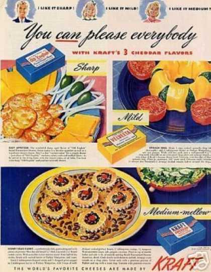 "Kraft Cheese Ad ""You Can Please... (1947)"