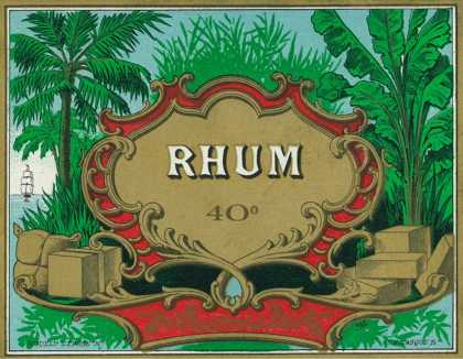 Rhum Forty Proof Rum Label