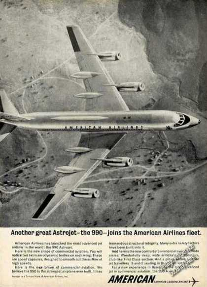 American Airlines 990 Astrojet In Flight (1962)