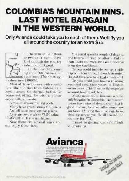 Columbia's Mountain Inns Avianca Airlines (1972)