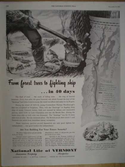 National Life of Vermont From forest trees to fighting ships (1952)
