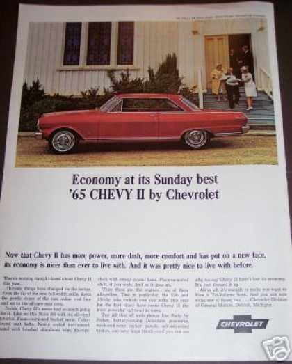 Original Car Ad 65 Chevy Ii By Chevrolet (1964)