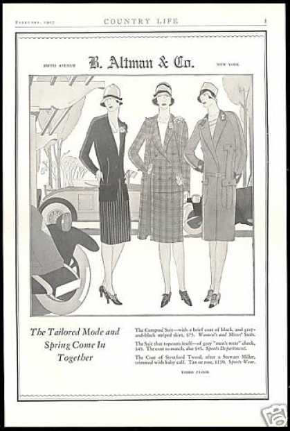 New York 5th Avenue B Altman & Co Women Fashion (1927)