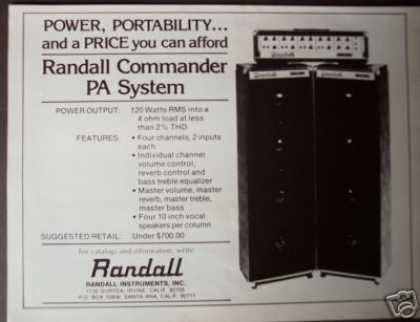 Randall Commander Pa System (1977)