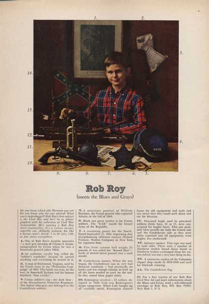 Rob Roy Shirt Ad Civil War Memorabilia Cap Gun (1962)