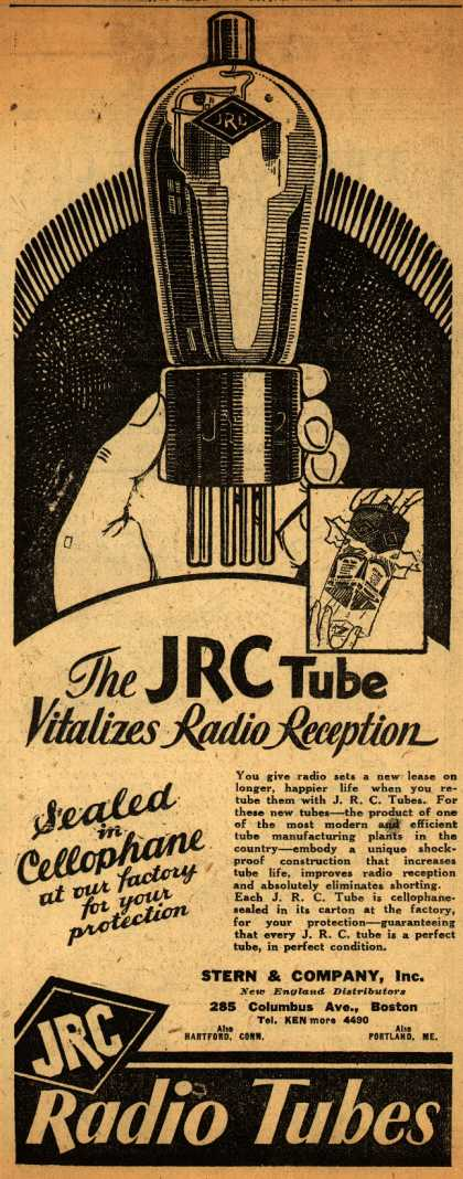 Johnsonburg Radio Corporation&#8217;s Radio Tubes &#8211; The JRC Tube Vitalizes Radio Reception (1930)