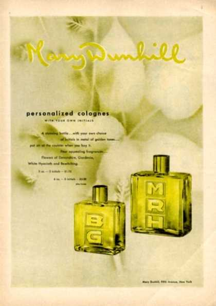 Mary Dunhill Colognes Bottle Fragrance (1946)