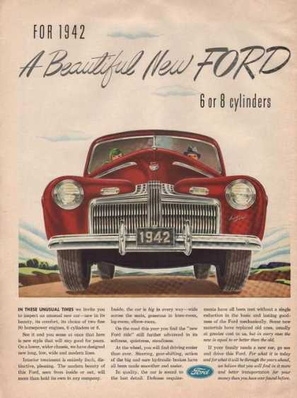 A Beautiful New Red Ford Car (1941)