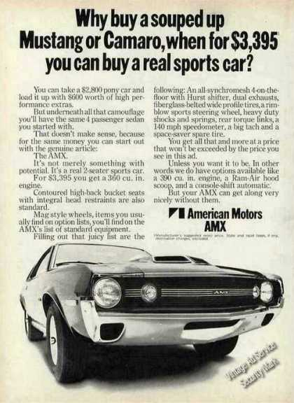 "American Motors Amx ""Real Sports Car"" (1970)"