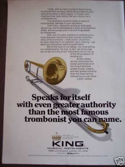 Trombones By King Musical Instruments Music (1975)