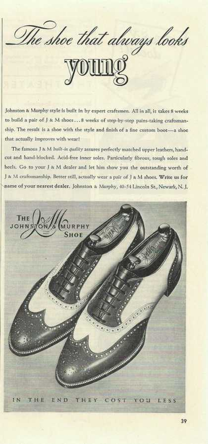 Johnston & Murphy Mens Dress Shoes Print A (1942)