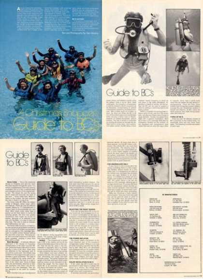Scuba Bc Buoyancy Compensator Article T (1979)
