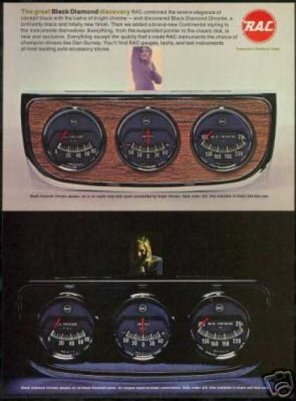 RAC Car Gauge Instruments 2 Views Photo R A C (1968)