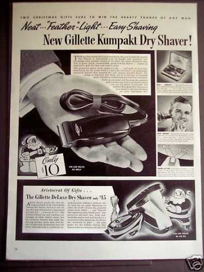 Gillette Kumpakt Dry Shaver for Men (1939)