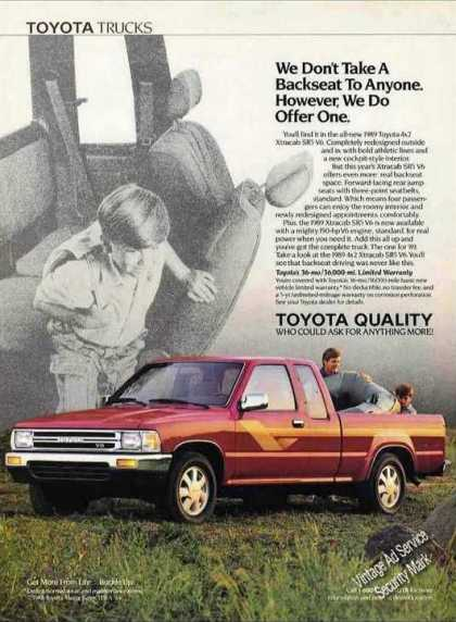 Toyota Pickup Trucks With Back Seat (1990)