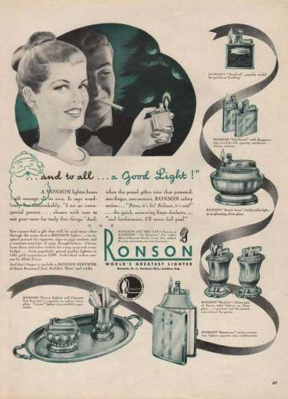 Ronson Worlds Greatest Lighter (1946)