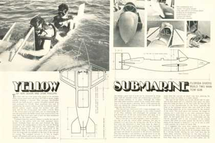 Yellow Submarine Two Man Tow Sub Print Article (1969)