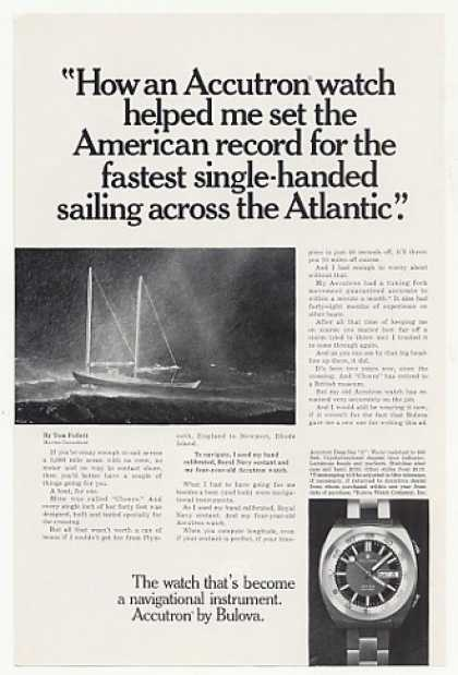 Tom Follett Cheers Sailboat Accutron Deep Sea A (1971)