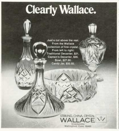 Wallace Crystal Decanter Bowl Candy Jar (1972)