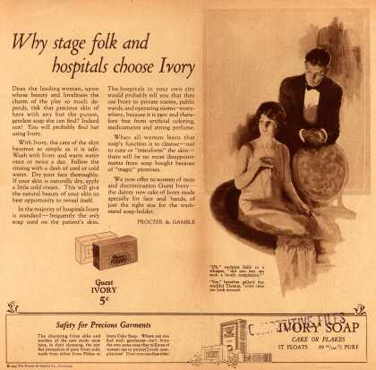 Procter & Gamble Co.'s Ivory Soap – Why stage folk and hospitals choose Ivory (1924)