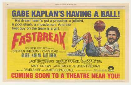 Gabe Kaplan Fast Break Movie (1979)