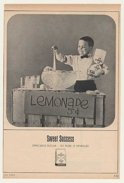 Boy Lemonade Stand Spreckels Sugar (1963)