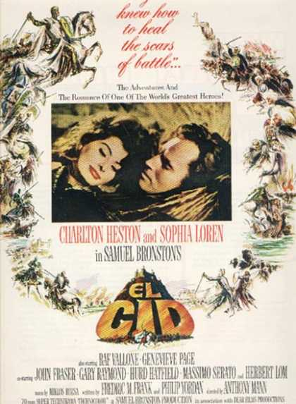 El Cid (Charlton Heston and Sophia Loren) (1961)