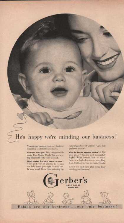 Gerbers Baby Foods He's Happy (1949)