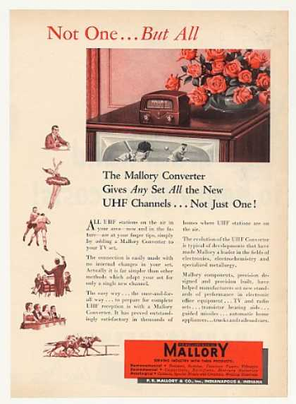 Mallory UHF TV Channel Converter (1953)