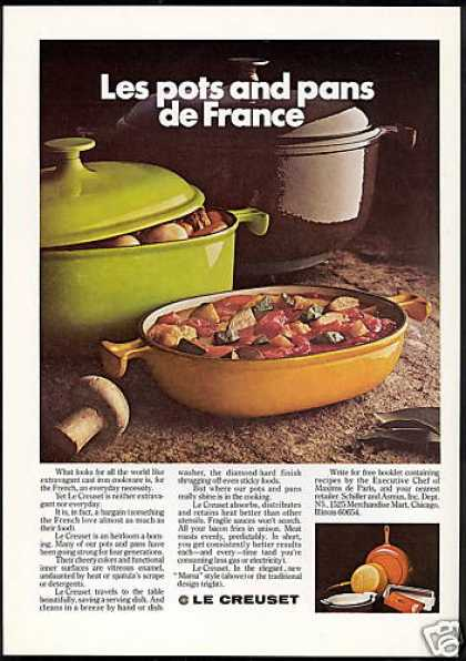 Le Creuset Cast Iron Cookware Photo (1976)